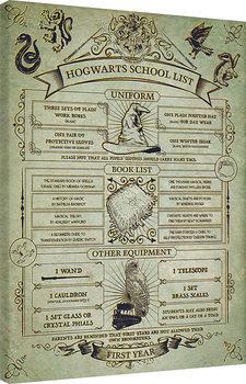 Cuadros en Lienzo Harry Potter - Hogwarts School List