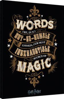 Cuadros en Lienzo Harry Potter - Words