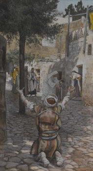 Cuadros en Lienzo Healing of the Lepers at Capernaum, illustration from 'The Life of Our Lord Jesus Christ'