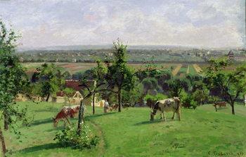 Cuadros en Lienzo Hillside of Vesinet, Yvelines, 1871
