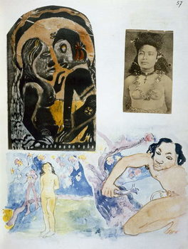 Cuadros en Lienzo Illustrations from 'Noa Noa, Voyage a Tahiti', published 1926