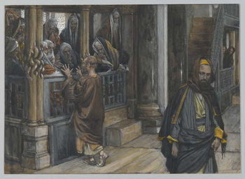 Cuadros en Lienzo Judas Goes to the Find the Jews, illustration from 'The Life of Our Lord Jesus Christ', 1886-94