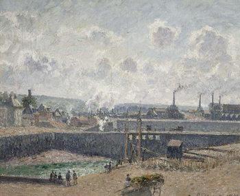 Cuadros en Lienzo Low Tide at Duquesne Docks, Dieppe, 1902