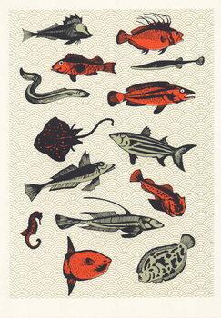 Cuadros en Lienzo Orange Japanese Fish, 2015