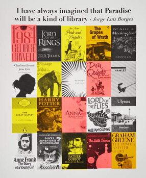 Cuadros en Lienzo Paradise is a library, 2015,