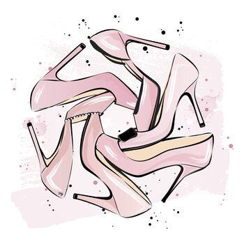 Cuadros en Lienzo Pink heels
