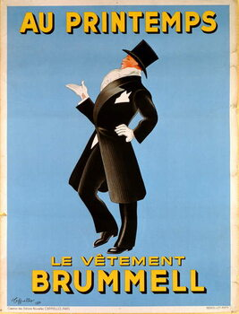 Cuadros en Lienzo Poster advertising 'Brummel' clothing for men at 'Printemps' department store, 1936