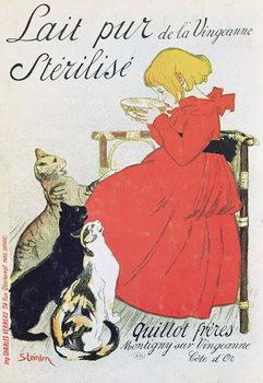 Cuadros en Lienzo Poster advertising 'Pure Sterilised Milk from La Vingeanne'