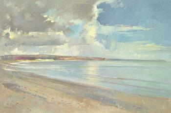 Cuadros en Lienzo Reflected Clouds, Oxwich Beach, 2001