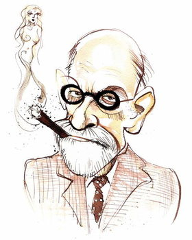 Cuadros en Lienzo Sigmund Freud Austrian neurologist and psychotherapist of Czech birth ; caricature