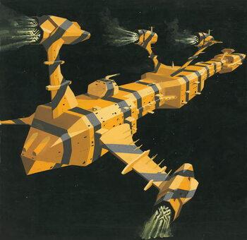 Cuadros en Lienzo Space station
