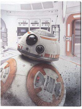Cuadros en Lienzo Star Wars The Last Jedi - BB - 8 Peek