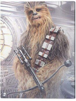 Cuadros en Lienzo Star Wars The Last Jedi - Chewbacca Bowcaster