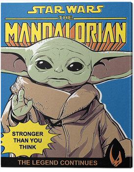 Cuadros en Lienzo Star Wars: The Mandalorian - Stronger Than You Think