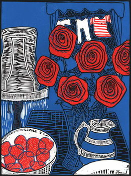 Cuadros en Lienzo Still life with Roses, 2014,
