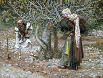 Cuadros en Lienzo The Barren Fig Tree, illustration for 'The Life of Christ', c.1886-94