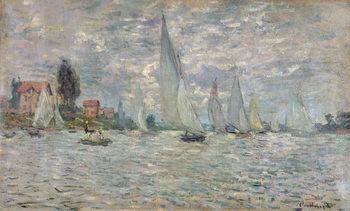 Cuadros en Lienzo The Boats, or Regatta at Argenteuil, c.1874