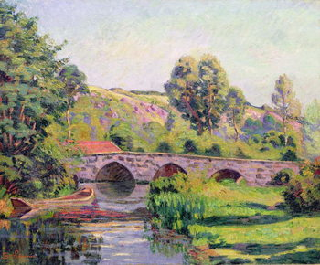 Cuadros en Lienzo The Bridge at Boigneville, c.1894