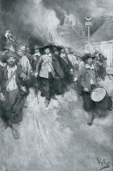 Cuadros en Lienzo The Burning of Jamestown, 1676, illustration from 'Colonies and Nation' by Woodrow Wilson, pub. in Harper's Magazine, 1901