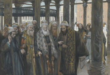Cuadros en Lienzo The Chief Priests Take Counsel Together, illustration from 'The Life of Our Lord Jesus Christ', 1886-94