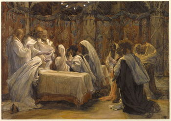 Cuadros en Lienzo The Communion of the Apostles, illustration for 'The Life of Christ', c.1884-96