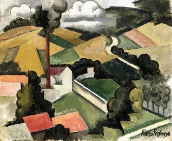 Cuadros en Lienzo The Fireplace Factory (Meulan Landscape), 1912