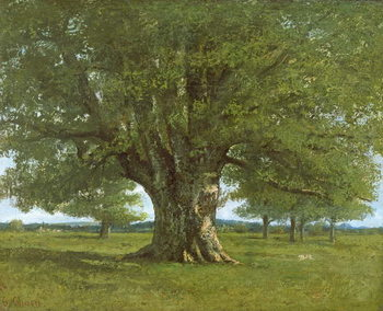 Cuadros en Lienzo The Flagey Oak Tree, 1864