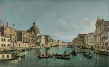 Cuadros en Lienzo The Grand Canal in Venice with San Simeone Piccolo and the Scalzi church, c. 1738