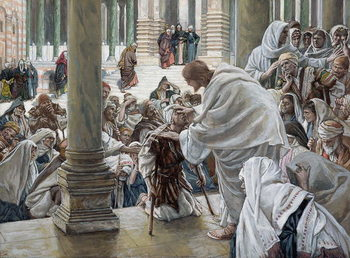Cuadros en Lienzo The Healing of the Lame in the Temple, illustration for 'The Life of Christ', c.1886-94