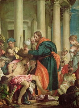 Cuadros en Lienzo The Miracle of St. Barnabas, c.1566