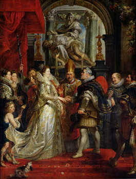 Cuadros en Lienzo The Proxy Marriage of Marie de Medici (1573-1642) and Henri IV (1573-1642) 5th October 1600, 1621-25