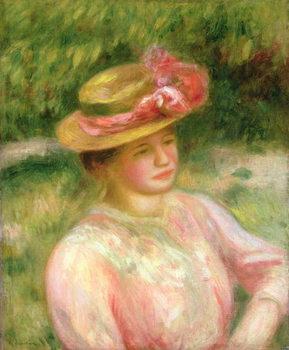 Cuadros en Lienzo The Straw Hat, 1895