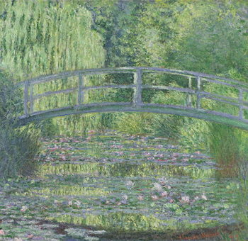 Cuadros en Lienzo The Waterlily Pond: Green Harmony, 1899
