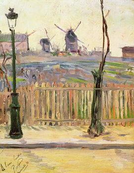 Cuadros en Lienzo The Windmills at Montmartre, 1884