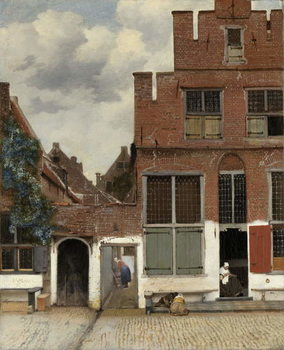 Cuadros en Lienzo View of Houses in Delft, known as 'The Little Street', c.1658