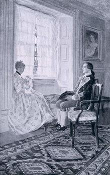 Cuadros en Lienzo Washington and Mary Philipse, illustration from 'Colonel Washington' by Woodrow Wilson, pub. in Harper's Magazine, 1896