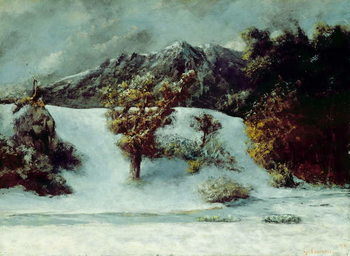 Cuadros en Lienzo Winter Landscape With The Dents Du Midi, 1876