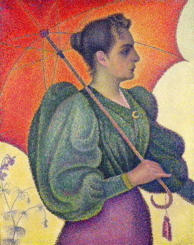 Cuadros en Lienzo Woman with a Parasol, 1893