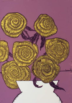 Cuadros en Lienzo Yellow Roses, 2016,