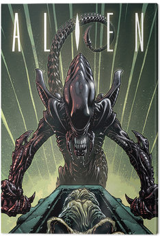 Pinturas sobre lienzo  Alien - Green