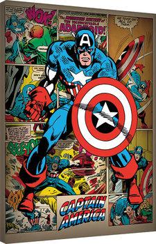 Pinturas sobre lienzo  Captain America - Retro