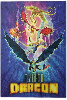 Pinturas sobre lienzo  Cómo entrenar a tu dragón 3 - Fly Like A Dragon