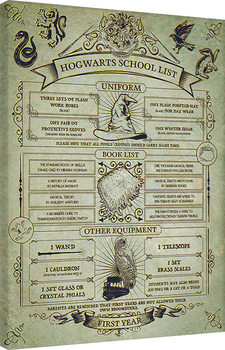 Cuadros en Lienzo  Harry Potter - Hogwarts School List