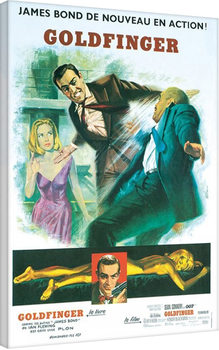 Pinturas sobre lienzo James Bond contra Goldfinger - Foreign Language