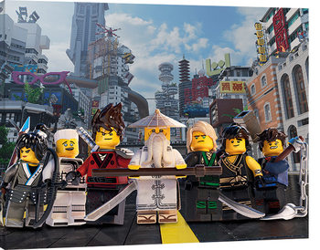 Pinturas sobre lienzo  LEGO® Ninjago Movie - Ninja Group