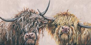 Pinturas sobre lienzo  Louise Brown - Nosey Cows