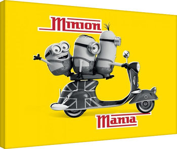 Cuadros en Lienzo Minions (Gru: Mi villano favorito - Minion Mania Yellow