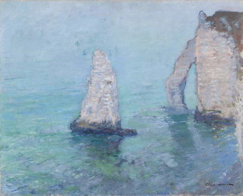Cuadros en Lienzo The Rock Needle and the Porte d'Aval, c.1885