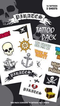 PIRATES 1 matrica tetoválás