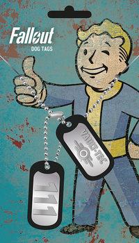 Placa identificadora Fallout 4 - Vault Tec
